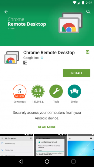 remote desktop for mobile