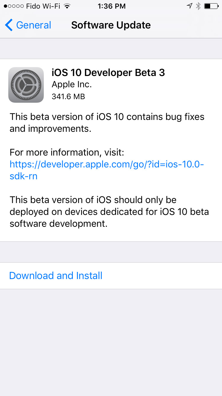 Apple released beta 3 of iOS 10, macOS Sierra 10.12, Xcode 8, tvOS 10 and watchOS 3