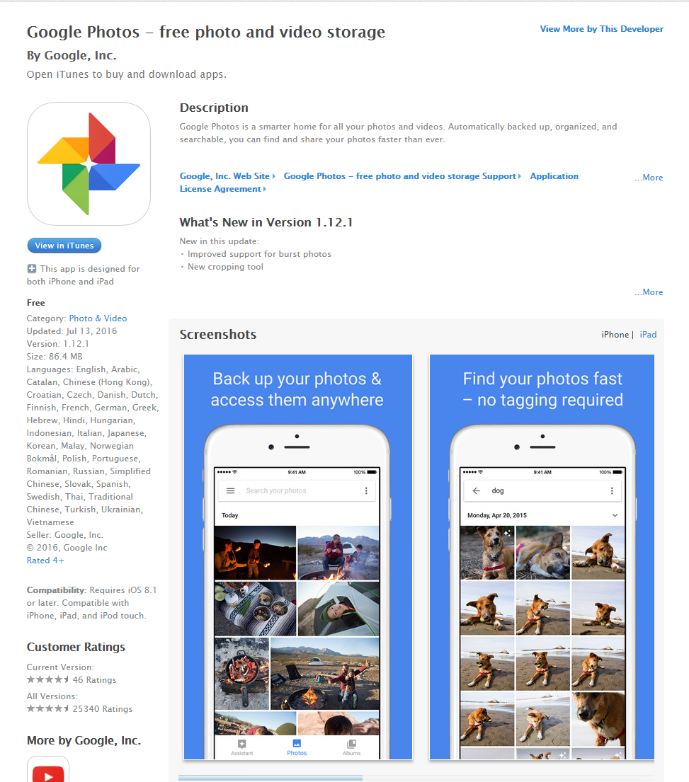 Update: Google Photos Gets new features for iOS