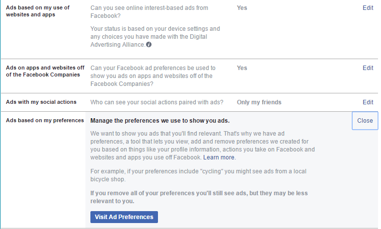 How to hide specific topics ads on Facebook
