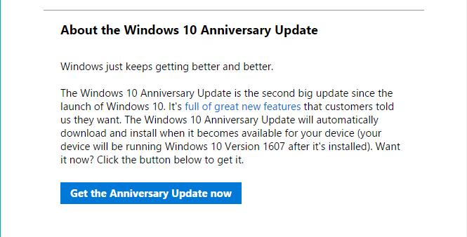 How To Get The Windows 10 Anniversary Update Right Now