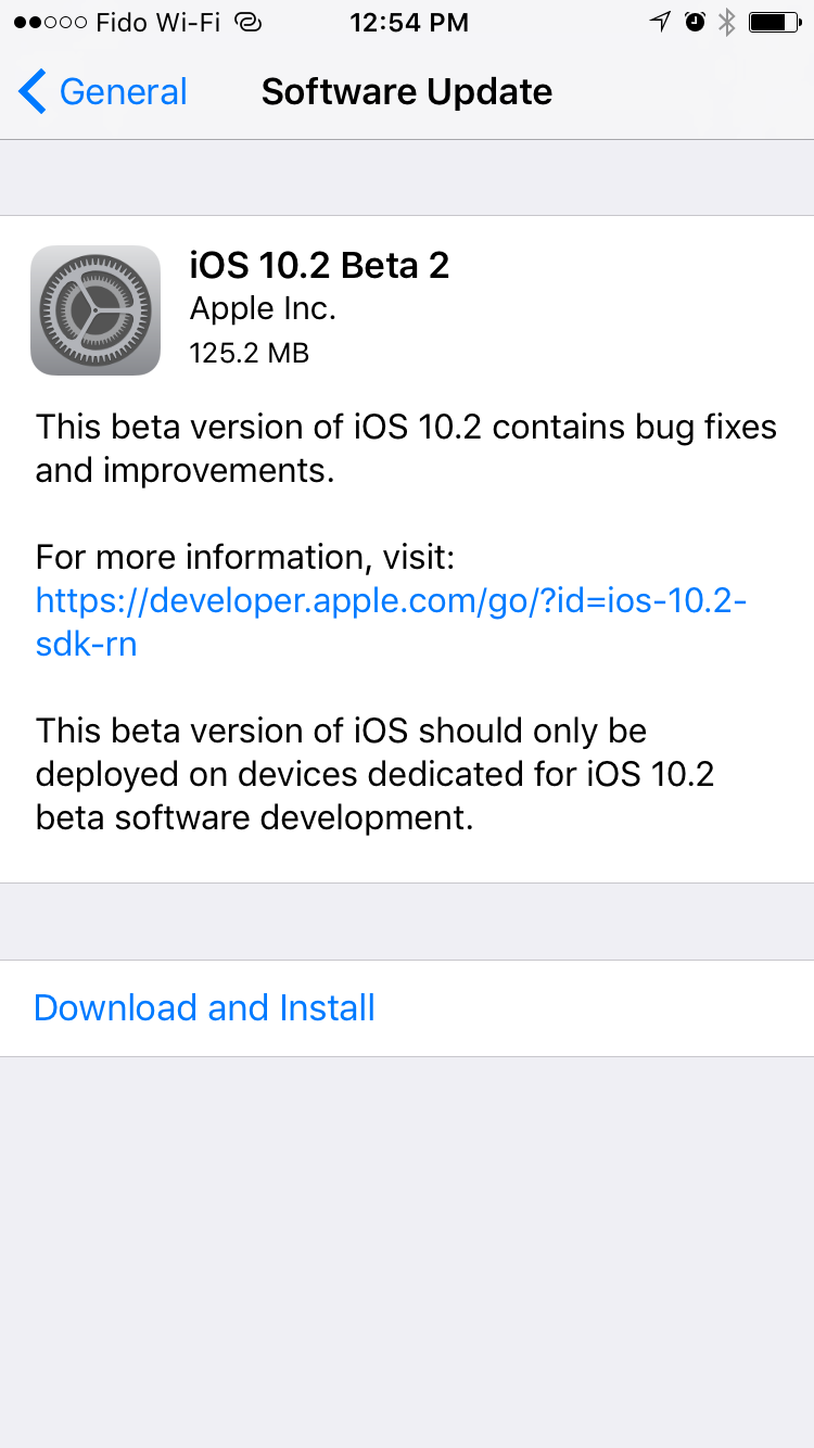 Apple Released iOS 10.2 beta 2 to Public Beta testers