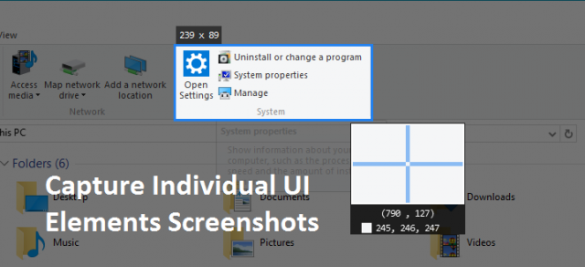 capture Individual UI Elements Screenshots