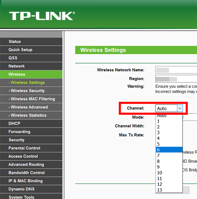 tplink-wireless-network-channel
