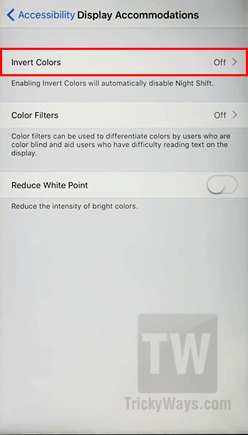 ios 11 invert colors