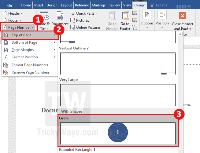 Add page numbers starting from specific page in word document add page number word ccuart Choice Image