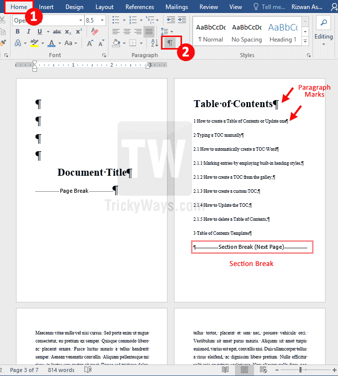 show-hidden-marks-and-symbols-word-document