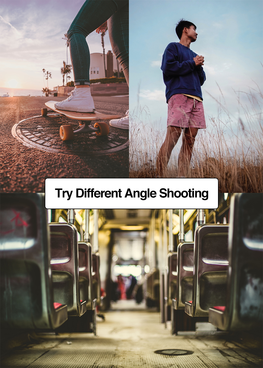 Try different angles to get pro results