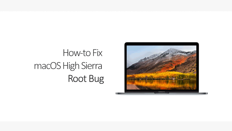 macos high sierra root bug