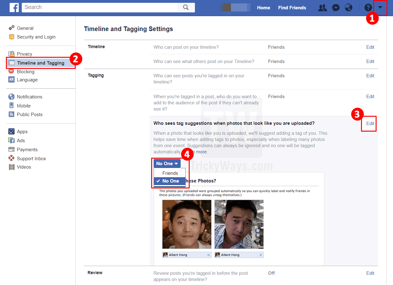 stop facebook auto tagging you in photos