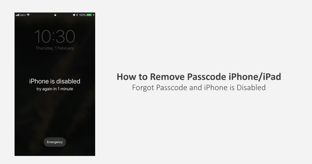 forgot passcode how to remove passcode iphone ipad