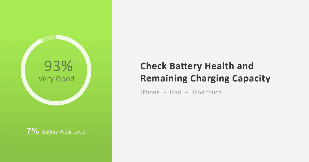 How to Check iPhone Battery Health or Charging Capacity