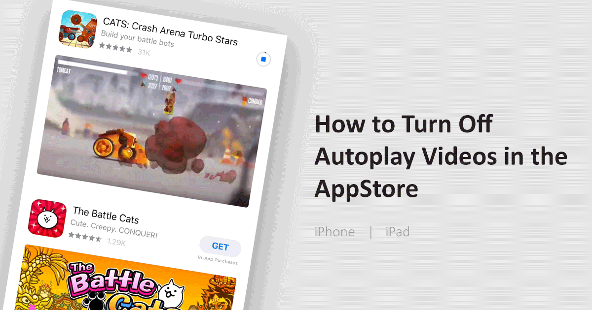 How to disable video autoplay in App Store
