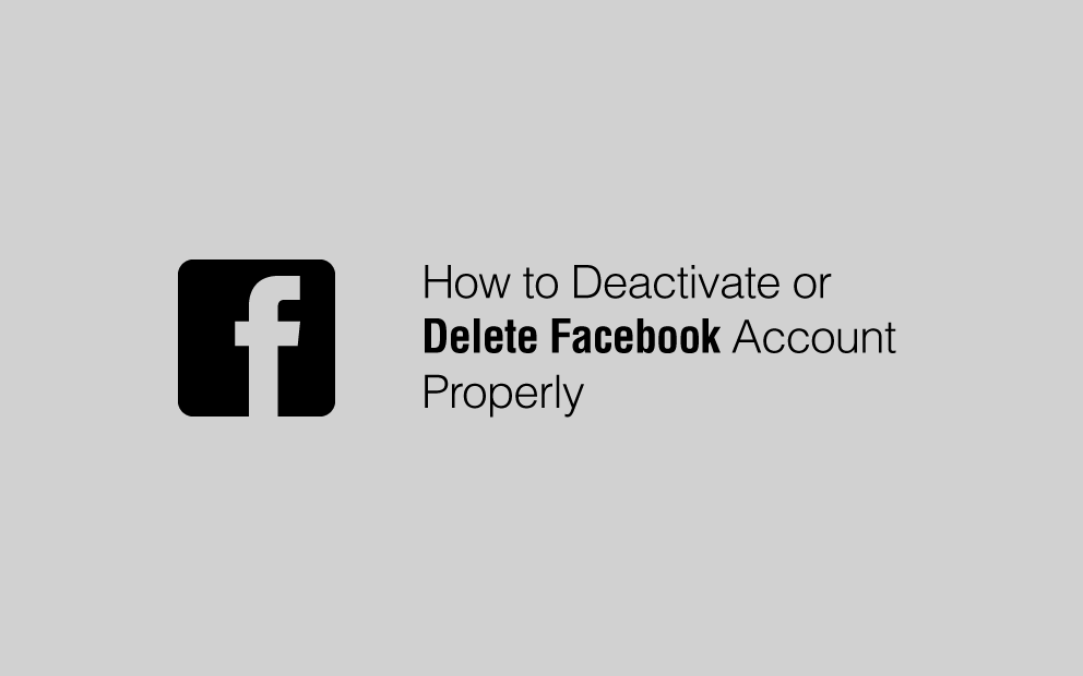 deactivate or delete permanently facebook account