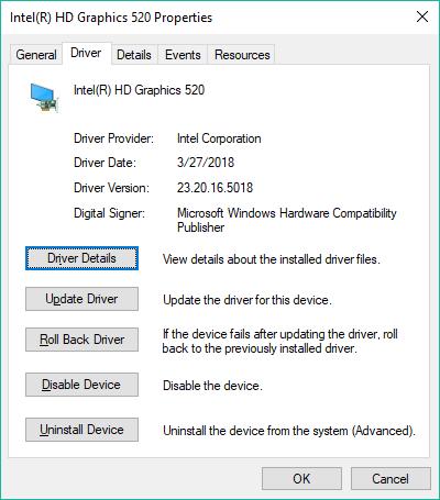 windows 10 graphics driver