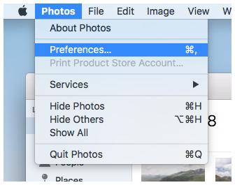 macos photos preferences