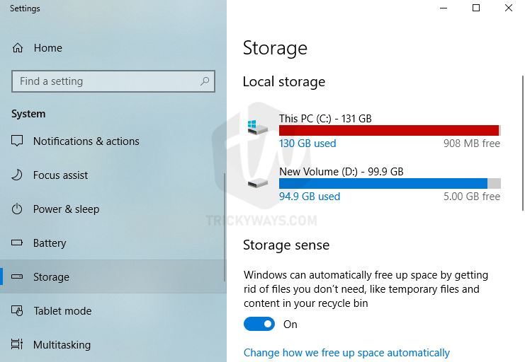 Windows 10 storage space