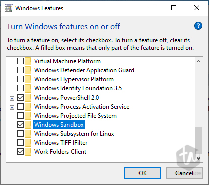 How to enable Sandbox on Windows 10