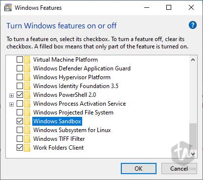 How to enable Sandbox on Windows 10