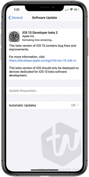 Installing iOS 13 beta iPhone