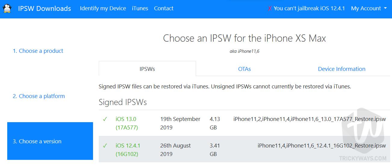 ipsw 12 4 1 iphone