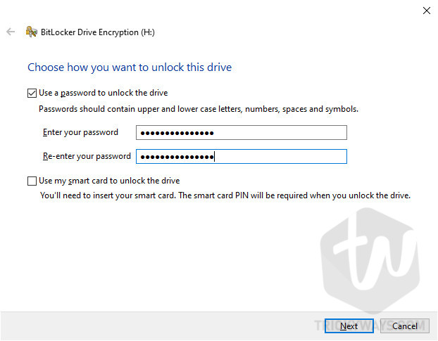 Windows 10 Bitlocker Drive Encryption