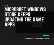 Fix Microsoft Windows Store Keeps Updating the Same Apps