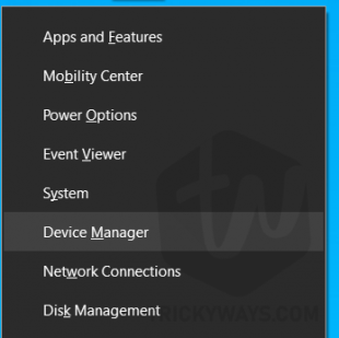 windows 10 open device manager