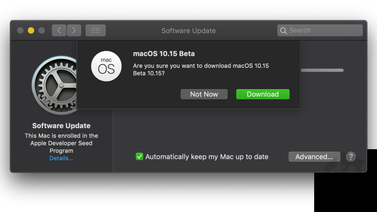 macOS Catalina Beta download