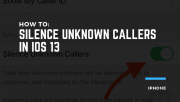 Silence Unknown Callers in iOS 13