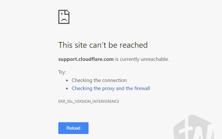 This site can't be reached website address is currently unreachable ERR_SSL_VERSION_INTERFERENCE