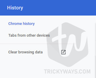 Clear browser data option