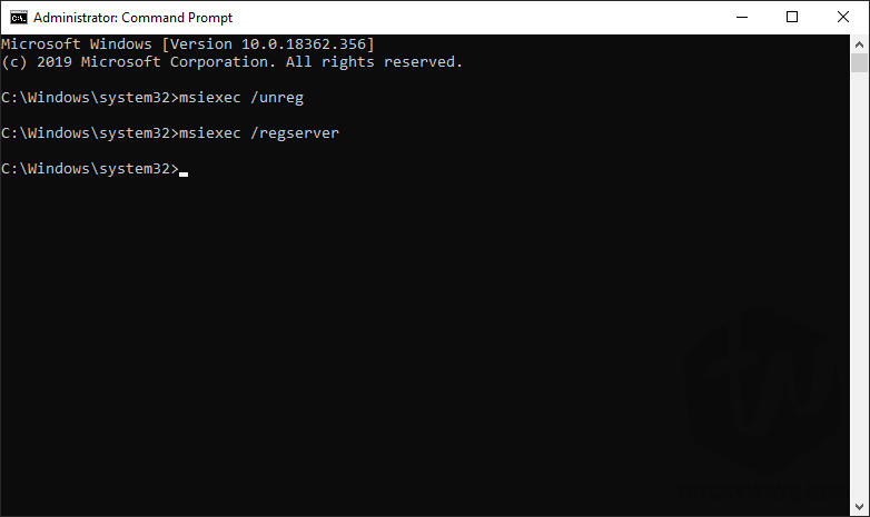 Command prompt or PowerShell with administrator rights