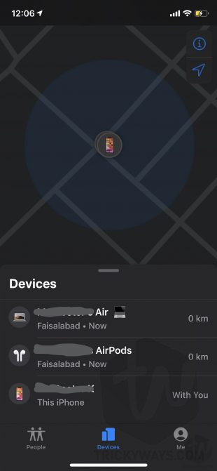 devices find my app enable find my mac
