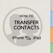 transfer contacts iphone ipad