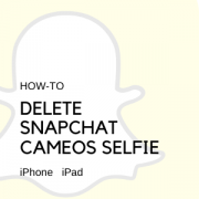 Delete Snapchat Cameos Selfie on iPhone