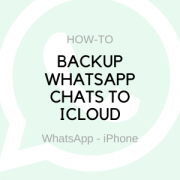 backup whatsapp chats to icloud on your iphone
