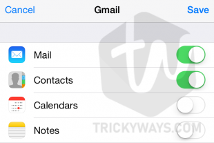 turn on contacts sync on iphone