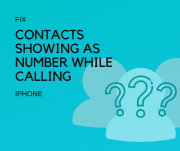 Contacts Showing as Number not names while calling