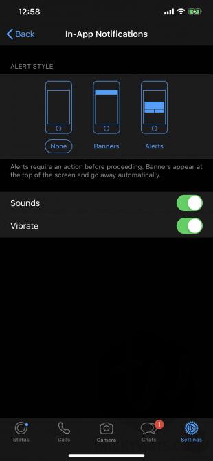 whatsapp in app notifications