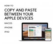 copy and paste between your Apple devices
