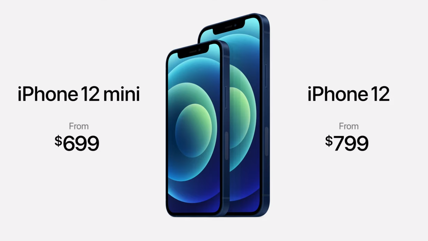 iphone 12 and 12 mini price
